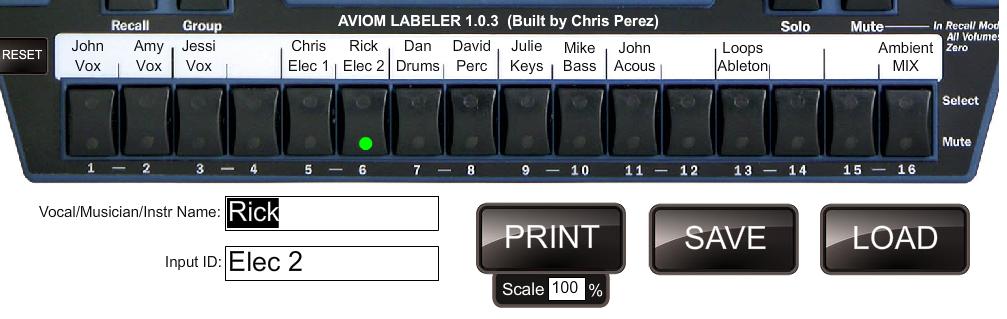 Aviom Labeler 1.0.3